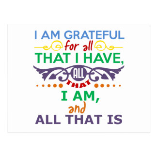I Am Grateful Postcard