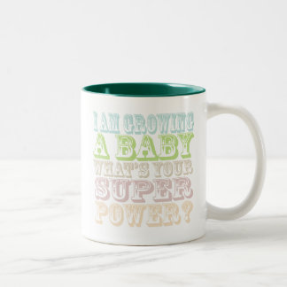 I am Growing a Baby-Mom-to-Be Gifts Two-Tone Coffee Mug