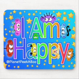I Am Happy Mouse Pad @ PlanetPeekABoo