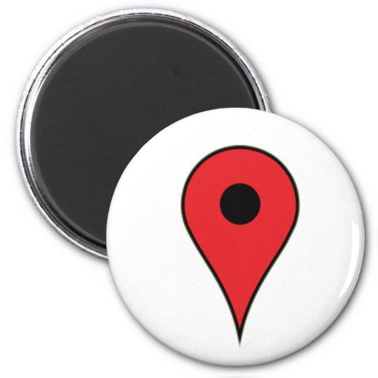I am here 6 cm round magnet