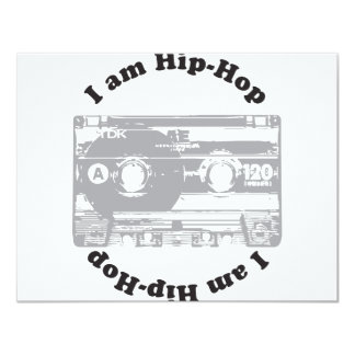 I Am Hip-Hop 11 Cm X 14 Cm Invitation Card