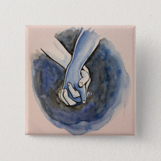 I Am Holding Your Hand by @Alexis_Royce 15 Cm Square Badge