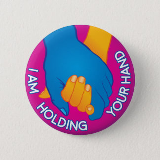I Am Holding Your Hand by Carl Huber 6 Cm Round Badge
