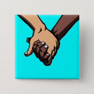 I Am Holding Your Hand by @Chance_Second 15 Cm Square Badge