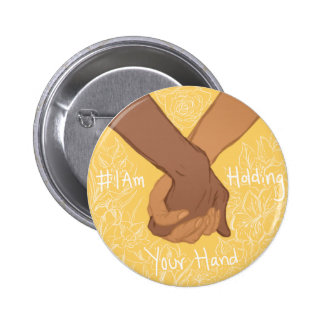 I am Holding Your Hand by @CharlieThisPain 6 Cm Round Badge