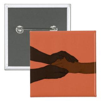 I am Holding Your Hand by @exvitamutatio 15 Cm Square Badge