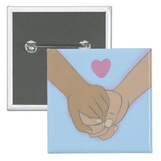 I Am Holding Your Hand by @Kkiticath 15 Cm Square Badge