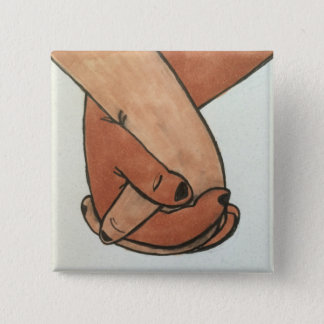 I Am Holding Your Hand by @Oohbiscuit 15 Cm Square Badge