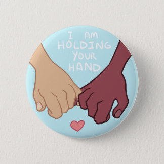 I Am Holding Your Hand by @Pix3lradio 6 Cm Round Badge