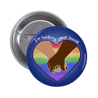 I Am Holding Your Hand (v.1) by @Polymeralchmst 6 Cm Round Badge