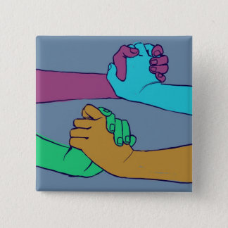 I Am Holding Your Hand (v.2) by @C_Rowles 15 Cm Square Badge