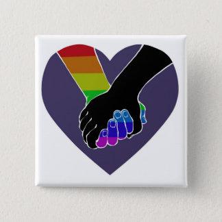 I Am Holding Your Hand (v.2) by @HugoDraws 15 Cm Square Badge