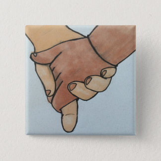 I Am Holding Your Hand (v.2) by @oohbiscuit 15 Cm Square Badge