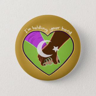 I Am Holding Your Hand (v.2) by @Polymeralchmst 6 Cm Round Badge