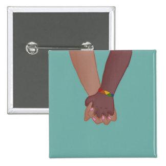 I Am Holding Your Hand (v.2) by @SunflowerSnips 15 Cm Square Badge