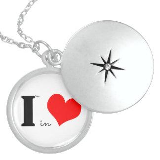 I Am In Love Round Locket Necklace