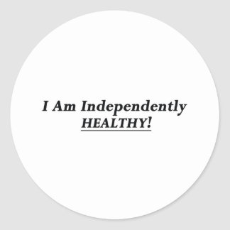 I Am Independently Healthy Sticker