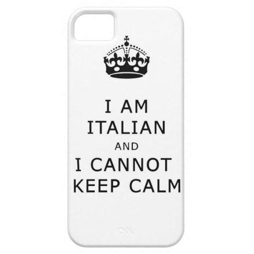 i am italian and i cannot keep calm phone case iPhone 5 cover