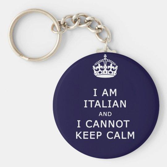 i am italian i cant not keep calm basic round button key ring