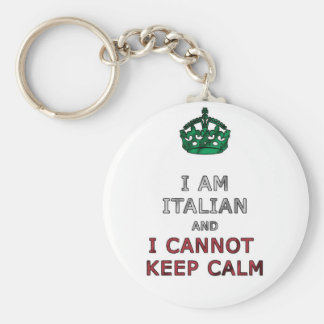 i am italian i cant not keep calm keychain