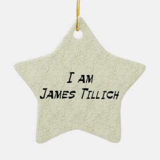 I Am James Tillich Ceramic Star Decoration