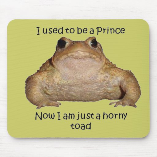 I Am Just A Horny Toad Mouse Pad