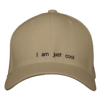 I am just cool embroidered baseball caps