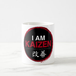 I Am Kaizen Logo - Continuous Improvement Coffee Mug