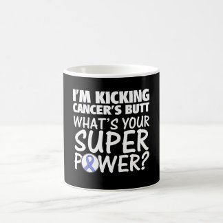 I am Kicking Stomach Cancer's Butt Superpower Basic White Mug