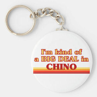 I am kind of a BIG DEAL in Chino Basic Round Button Key Ring