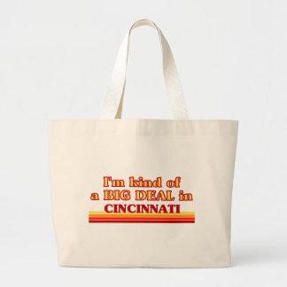 I am kind of a BIG DEAL in Cincinnati Jumbo Tote Bag