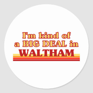 I am kind of a BIG DEAL in Waltham Round Sticker