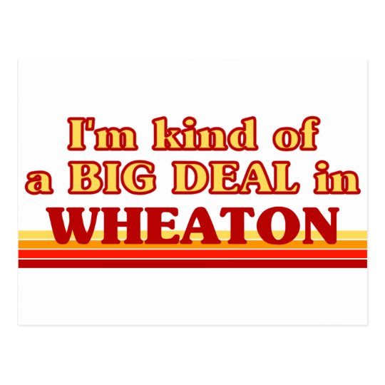 I am kind of a BIG DEAL in Wheaton Postcard