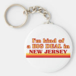 I am kind of a BIG DEAL on New Jersey Basic Round Button Key Ring