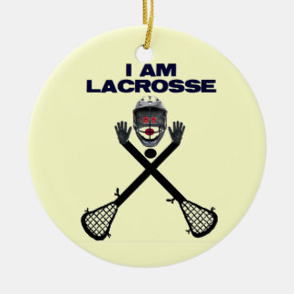 I am Lacrosse Christmas Ornament