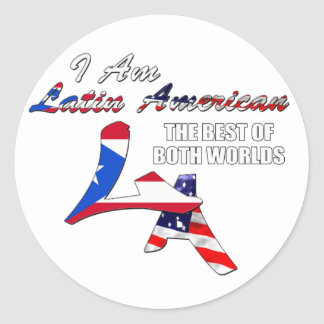 I Am Latin American Stickers