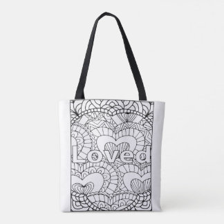 I AM Loved Tote - Color Your Own Tote