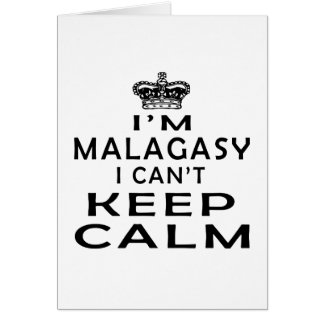 I am Malagasy I can't keep calm Cards