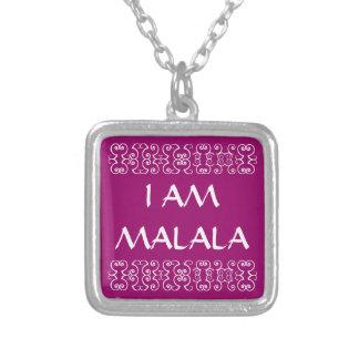 I AM MALALA 2 SILVER PLATED NECKLACE