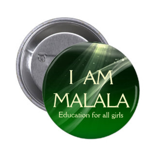 I am Malala Education for All Girls 6 Cm Round Badge
