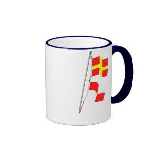 I am maneuvering with difficulty Signal flag Hoist Ringer Mug