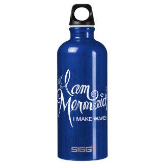 I am Mermaid - I Make Waves Water Bottle