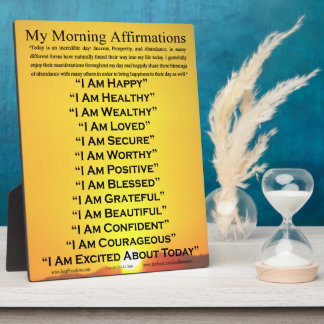 I AM - Morning Affirmations Plaque