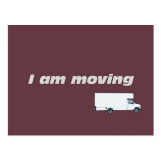 I am moving postcard