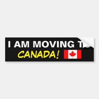 I AM MOVING TO CANADA BUMPER STICKER