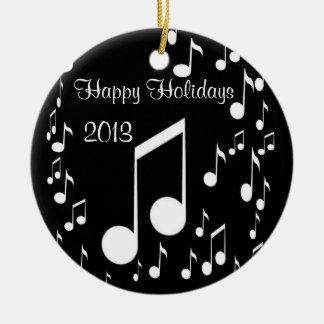 I Am Music,Happy Holidays 2013_ Round Ceramic Decoration
