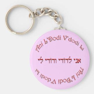 I Am My Beloved's: My Beloved is Mine Basic Round Button Key Ring