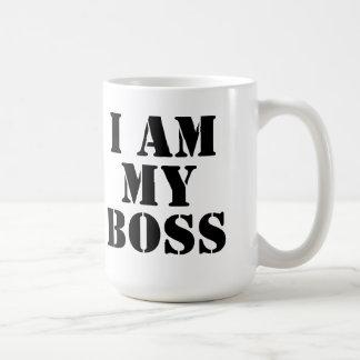 I am My Boss Slogan Mug