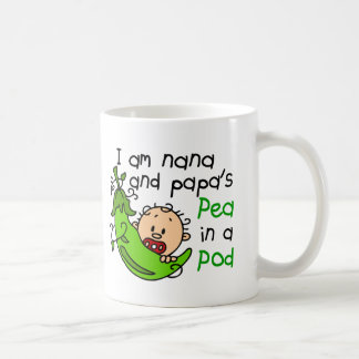 I Am Nana And Papa s Pea In A Pod Coffee Mug