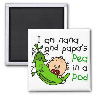 I Am Nana And Papa s Pea In A Pod Fridge Magnet